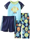 Poco Me Baby-Boys Infant Sleepy Monsters 3�piezas pijama, Azul Multi, 12�Meses Color: Azul marino Multi Tama�o: 12�Meses infantil, beb�, ni�o