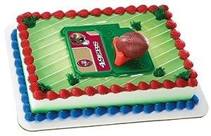 NFL San Francisco 49ers Football & Tee Cake Topper Set