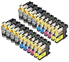 20 Pack Compatible Brother LC101 , LC103 8 Black, 4 Cyan, 4 Magenta, 4 Yellow for use with Brother DCP-J152W, MFC-J245, MFC-J285DW, MFC-J4310DW, MFC-J4410DW, MFC-J450DW, MFC-J4510DW, MFC-J4610DW, MFC-J470DW, MFC-J4710DW, MFC-J475DW, MFC-J650DW, MFC-J6520DW, MFC-J6720DW, MFC-J6920DW, MFC-J870DW, MFC-J875DW. Ink Cartridges for inkjet printers. LC101BK , LC101C , LC101M , LC101Y , LC103BK , LC103C , LC103M , LC103Y © Blake Printing Supply