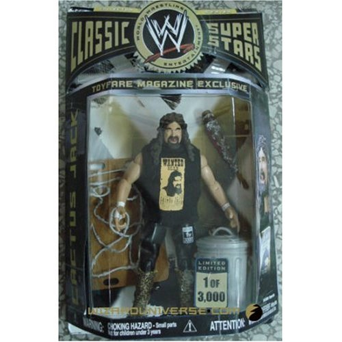 Buy Low Price Wizard Entertainment ToyFare Exclusive WWE 'Cactus Jack' Mick Foley Action Figure (B0016BVWFE)