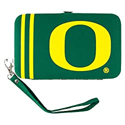 NCAA Oregon Ducks Shell Wristlet, 3.5 x 0.5 x 6-Inch, Green