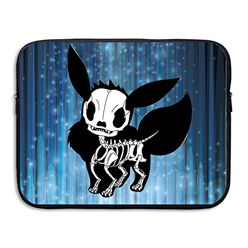 [Hotgirl4 Eevee Skull Evolution Anti-shock Laptop Zipper Bag 13-15 Inch] (Young Elvis Presley Costumes)