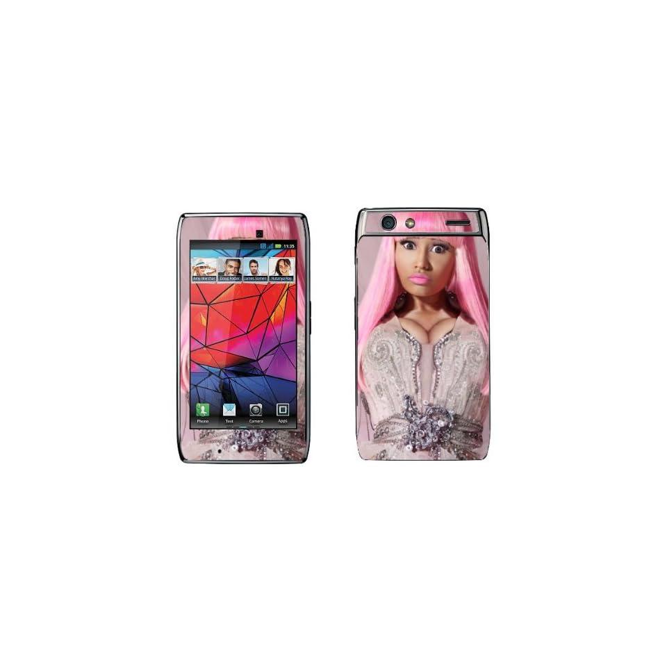Meestick Nicki Minaj09 Pink Vinyl Adhesive Decal Skin for Motorola Droid Razr