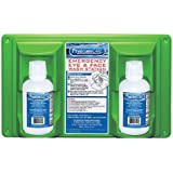 """PhysiciansCare 24-102 Wall Mountable Eye and Skin Flush Station with Two 16 oz Bottles, 16-1/2"""" L x 3-3/4"""" W x 13-1/2"""" H"""