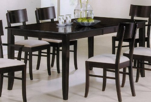 Dining Table with Extension Leaf Cappuccino Finish PNo: 100460
