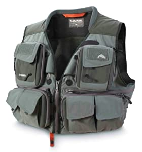 Simms G3 Guide Fly Vest Gun Metal Size Small