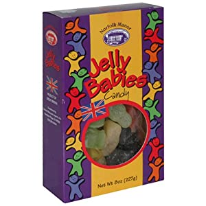 Norfolk Manor Jelly Babies, 8-Ounce Boxes (Pack of 12)