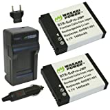 Wasabi Power Battery and Charger Kit for GoPro AHDBT-001, AHDBT-002 and GoPro HD HERO, HERO2 Camera