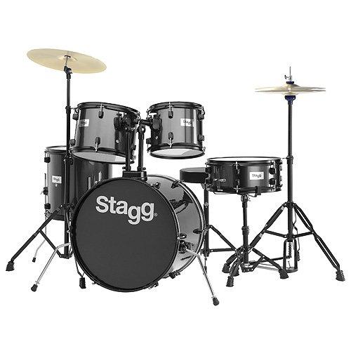 stagg-25020590-tim120b-drum-set-508-cm-5-pcs-con-hardware-con-trono-piatti-nero