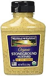 Westbrae Natural Stoneground Mustard No Salt Added -- 8 oz