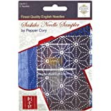 Colonial Needle Blue Feather Sashiko Needle Sampler, Assorted Sizes, 10 Per Package