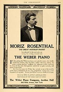 1906 ad weber piano moriz rosenthal austrian pianist original print ad posters - Weber prim ad ...
