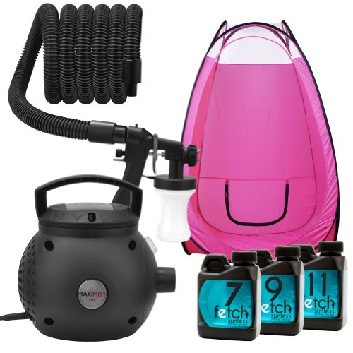 Maximist Lite Spray Tan Machine Hvlp Fetch Sunless Tanning Dha Pink Tent Kit 2A front-939413