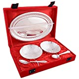 German Silver Bowl, Spoon and Tray Gift set