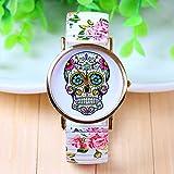 New Arrival Skull Gothic Wrist Watches Geneva Flower Watches