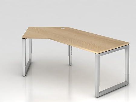 Angolo supporto o rettangolare, 210x 113cm, 135°, tavolo in rovere