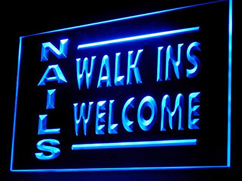 C B Signs Nails Walk Ins Welcome Led Sign Neon Light Sign Display
