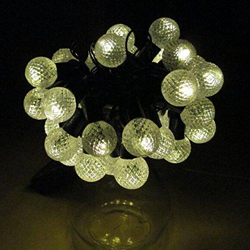 E Light Warm White Globe String Lights Solar Powered 30 LED Christmas Lights New eBay