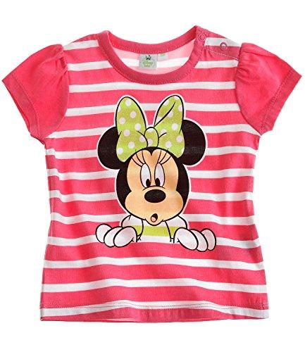 Disney-Minnie-Babies-Camiseta-de-manga-corta-Fuxia-18M