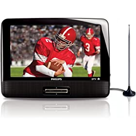 "Philips PT902/37 9"" Portable Digital HDTV with FM Tuner"