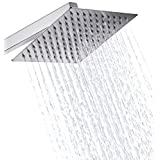 Eyekepper Stainless Steel Shower Head - Rain Style Showerhead, Waterfall Effect, Elegantly Designed, High Polish Chrome, 8-inch Diameter, Ultra Thin, teflon tape included