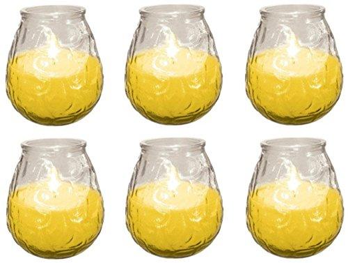 6 x Prices Candles Glo-Lite Citronella