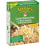 Annie's Homegrown Curly Fettuccine with White Cheddar & Broccoli Sauce, 7.25-Ounce Boxes (Pack of 6)