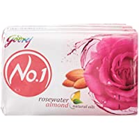 Godrej No.1 Rosewater And Almonds Soap, 100g (Pack Of 4)