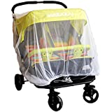 Baby Mosquito Mesh Insect Bug Netting Buggy Cover For Twin/Double Jogging,Tandem Strollers, Prams, Bassinet And...