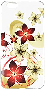 JUJEO Pretty Flower TPU Skin Cover for iPhone 6 Plus - Skin - Non-Retail Packaging - Multi