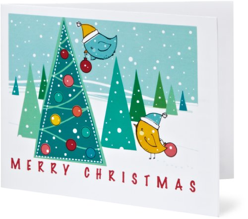 Amazon Gift Card - Print - Merry Christmas - Christmas Birds
