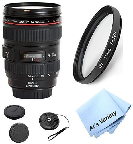 Canon-EF-24-105mm-f4-L-IS-Zoom-Lens-White-Box-Bundle-Kit-With-High-Definition-UV-Filter-Als-Variety-Premium-Cleaning-Cloth-Great-Value-Bundle