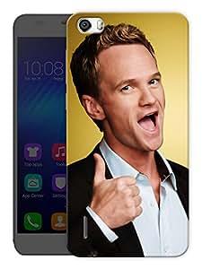 "Humor Gang Barney Stinson Love Printed Designer Mobile Back Cover For ""Huawei Honor 6"" (3D, Matte, Premium Quality Snap On Case)"
