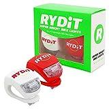 Hochqualitiative Rydit Fahrradbeleuchtung: Set mit 2 superhellen LED Silikonleuchten