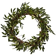 Nearly Natural 4773 Olive Wreath, 20-…