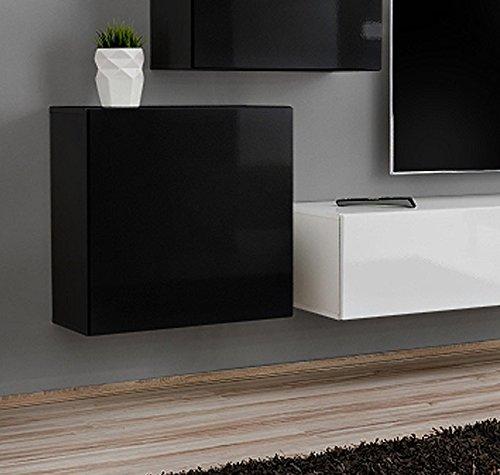 Muebles Bonitos –Armario Colgante modelo Berit 60x60 en color negro (1 Modulo)