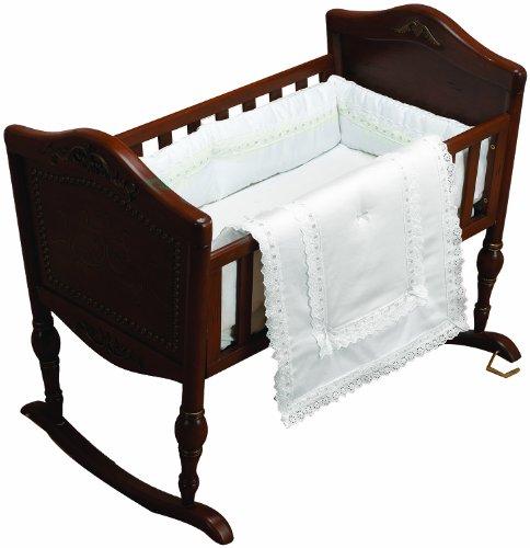 Imagen de Baby Doll Bedding Royal Classic Cuna Ropa de cama Set, White