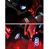 Flyox Car Door LED Lighting Entry Ghost Shadow Projector Welcome Lamp Logo Light for Audi Series (2 Pack )