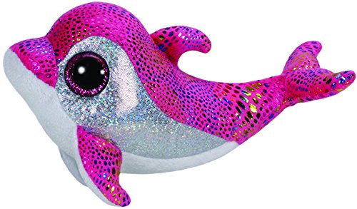 Ty Beanie Boos Sparkles the Pink Dolphin Plush - 1