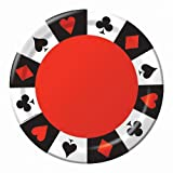 Creative Converting 8 Count Round Lunch Plates, Card Night