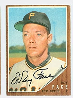Roy Face AUTOGRAPH 1962 Topps #210 Pittsburgh Pirates