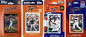 MLB Detroit Tigers 4 Different Licensed Trading Card Team Sets by C&I Collectables