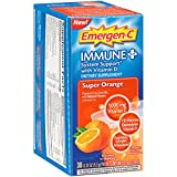 Emergen-C Immune+ Dietary Supplement (Super Orange Flavor, 30-Count 0.33 oz. Packets)