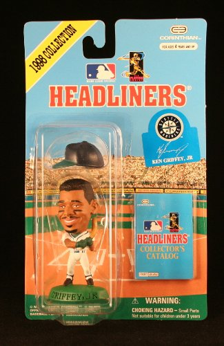 KEN GRIFFEY JR. / SEATTLE MARINERS * 3 INCH * 1998 MLB Headliners Baseball Collector Figure