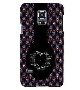 Fuson 3D Printed Love Designer back case cover for Samsung Galaxy S5 Mini - D4618