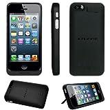 Stuff4® iPhone 5 Negro Carcasa Funda con Bateria Integrada - Externa Cargador