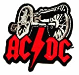Ac Dc Music Band Logo II Iron on Sew on Patch Iron-on Symbol Badge Emblem Logo Sign Patch Embroidery