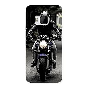 Bike Rider Multicolor Back Case Cover for HTC One M9