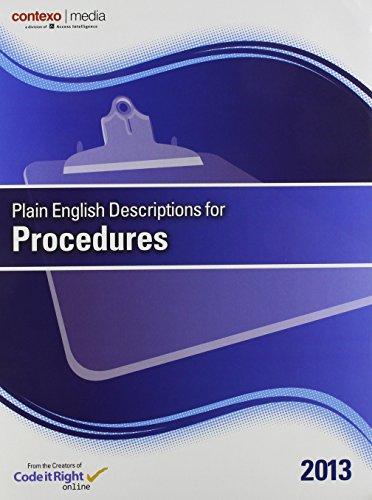 Plain English Descriptions for Procedures 2013