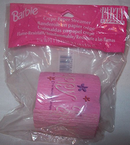 Barbie Birthday Crepe Paper Party Streamer 10 Yards